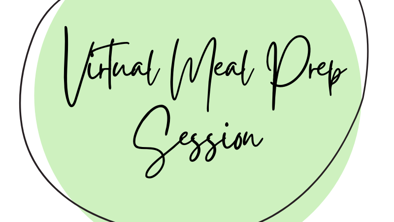 One-on-One Virtual Meal Prep Session