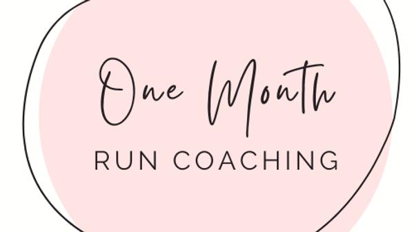 Monthly Run Coaching