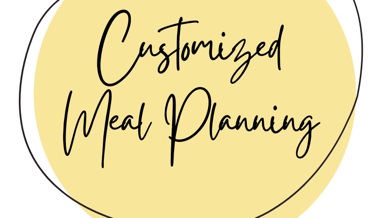 Customized Meal Planning