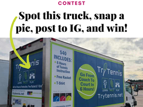 The I Spy a Try Tennis Truck Contest