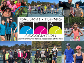 The RTA has been recognized as the 2020 Community Tennis Association of the Year by USTA NC