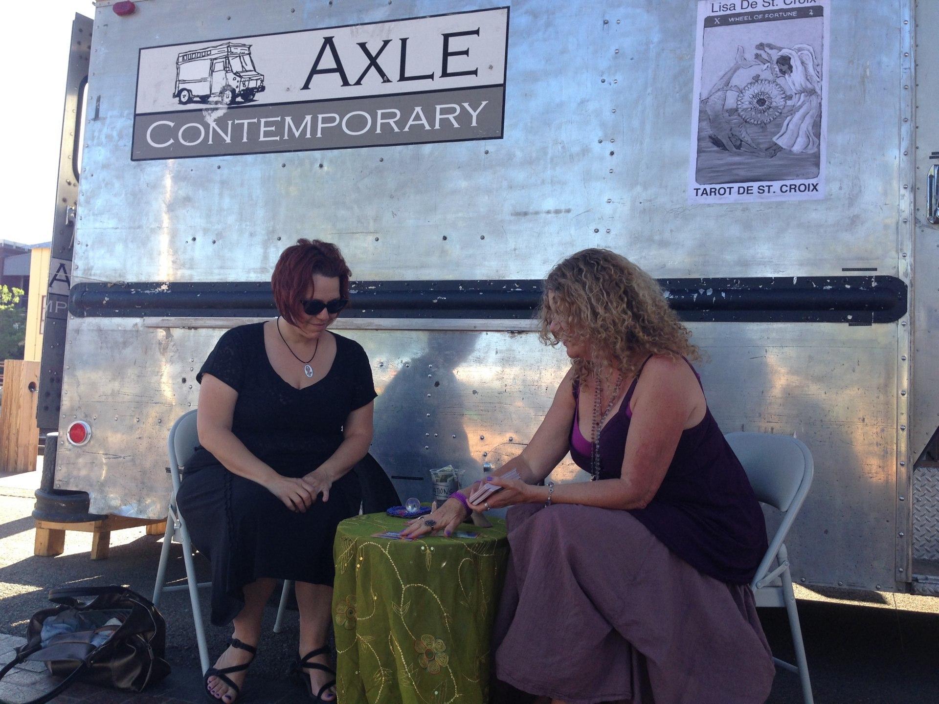 Lisa de St. Croix reading Tarot