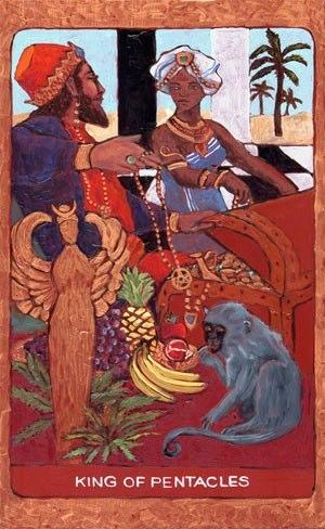 Tarot de St. Croix:king of pentacles