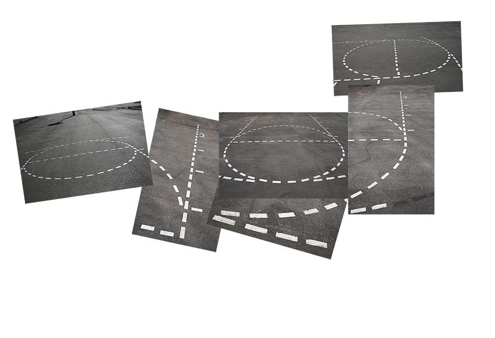 Joan Zalenski Line Drawing on Asphalt  1