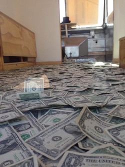 dollars in the gallery