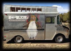 Axle with ImprintMobile wheatpaste