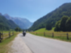 Motorcycle riding in Slovenia