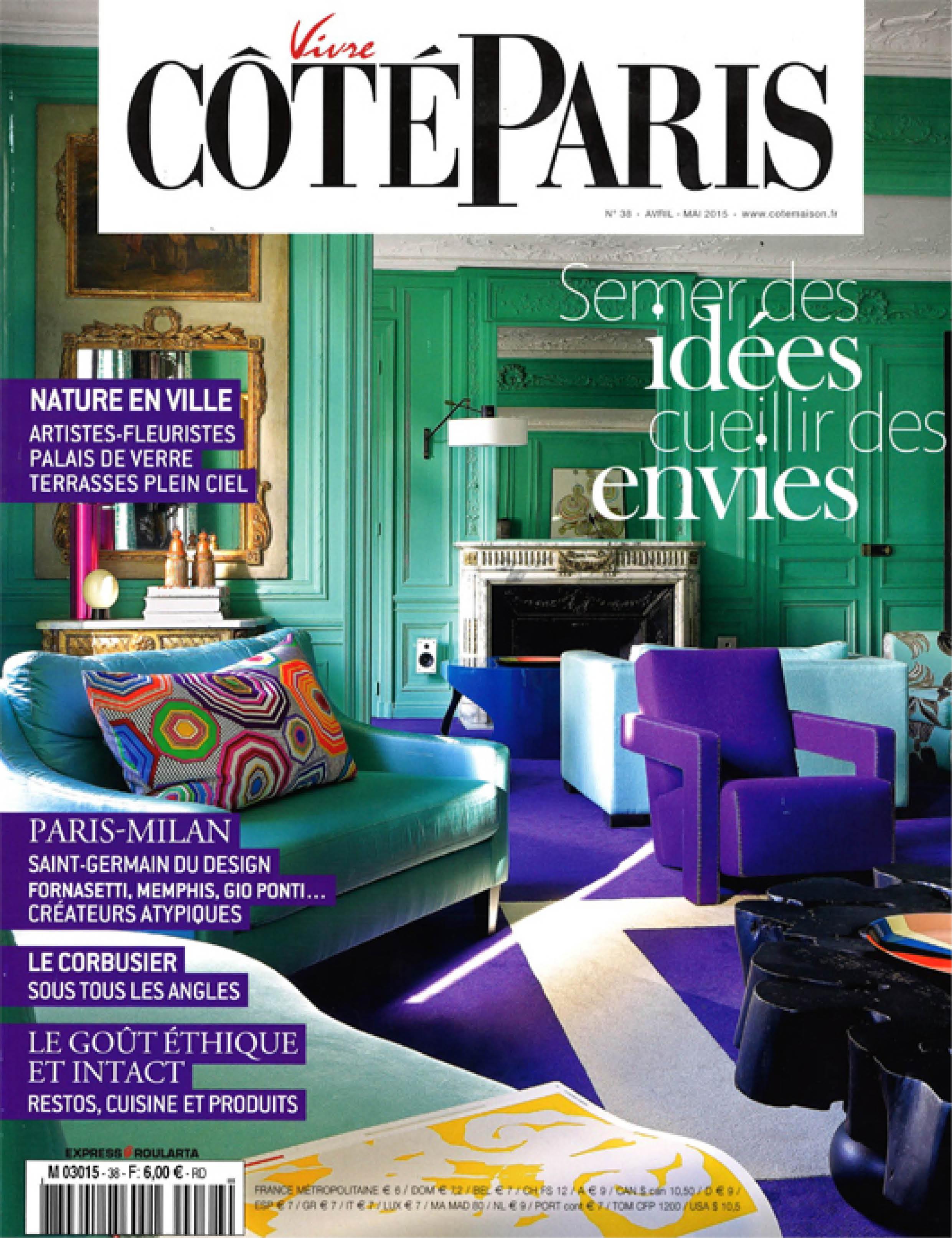 VIVRE COTE PARIS - 2015 couverture