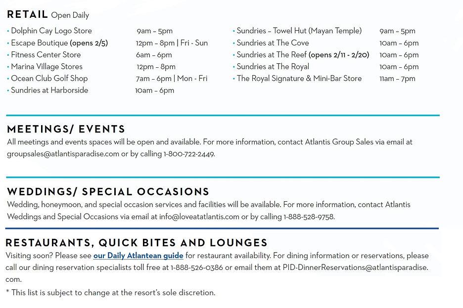 2021 Atlantis Phase 1 opening as of Feb