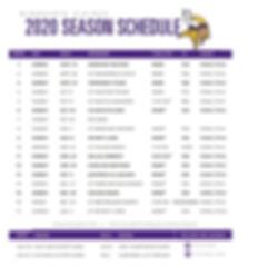 2020 Mystic Lakes Minnesota Vikings Sche