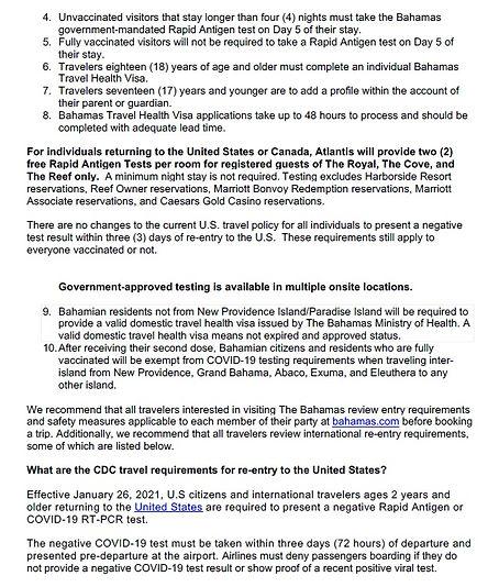 2021 Atlantis Travel updates May 1st pg