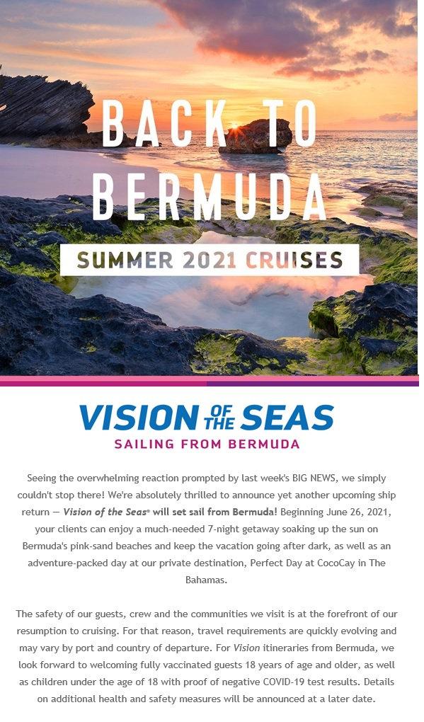 2021 Royal Back to Bermuda Vision of the