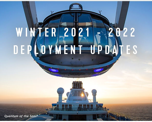 2021 Royal Caribbean Deployment Updates.