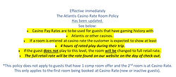 2018 Atlantis Casino rate Policy as of A