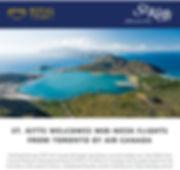 2019 St Kitts Air Canada mid week flight