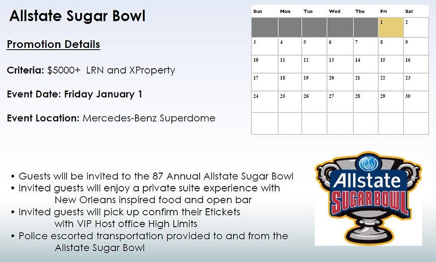 2021 Harrahs New Orleans Allstae Sugar B
