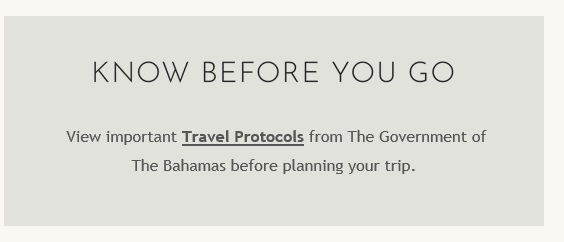 2020 Bahamas Know before you Go Corvid T