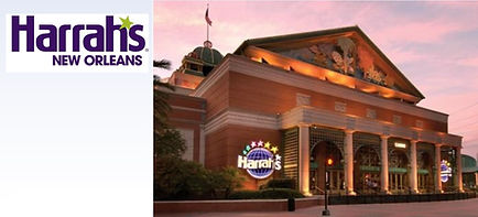 2021 Harrahs New Orleans Logo with Build