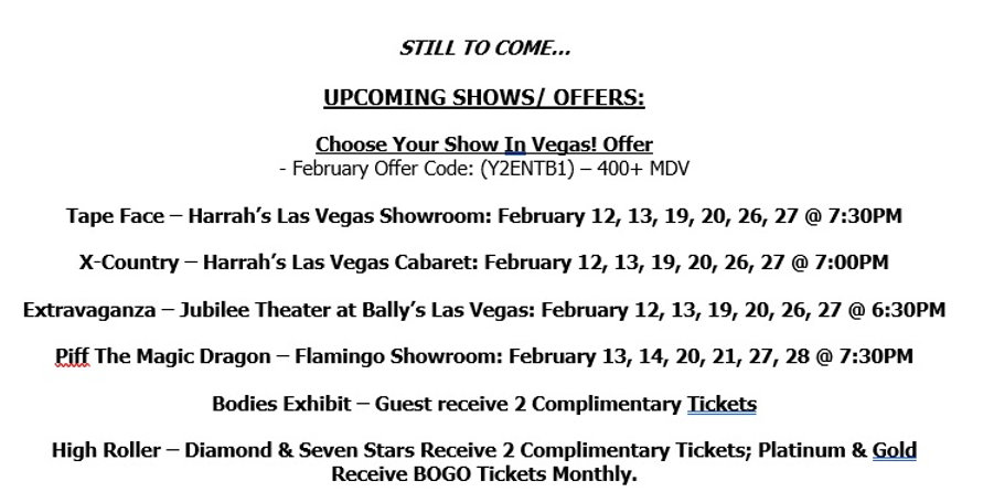 2021 Caesars LV  Shows  of of Feb 12th.j