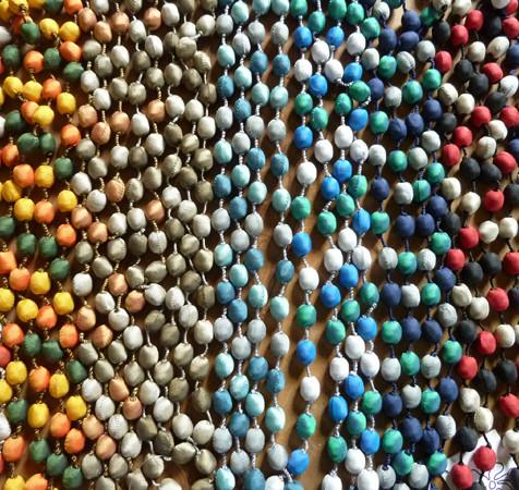 collier avec perles en soie