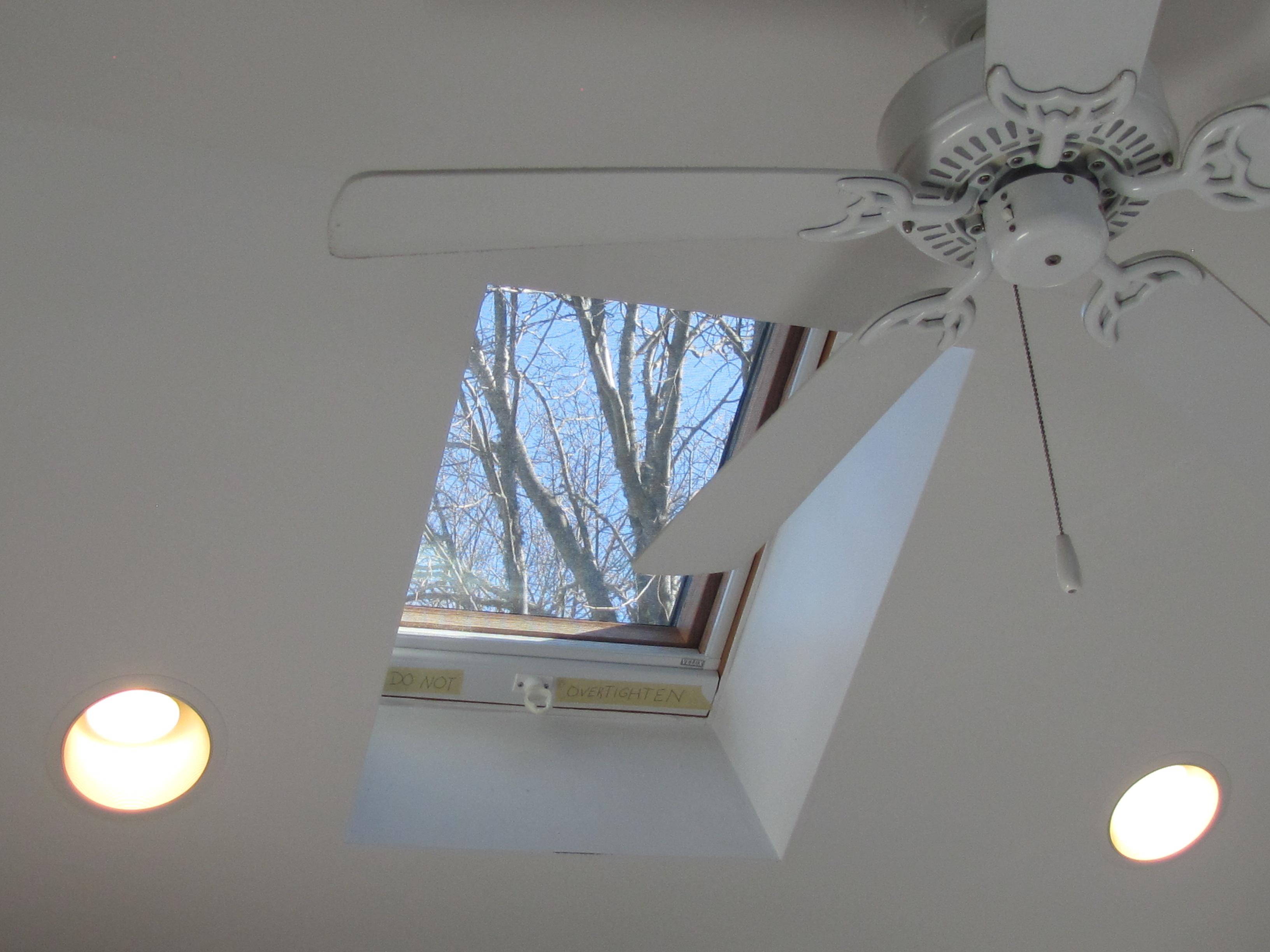 Kitchen Skylight and Fan