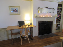 Workspace and fireplace