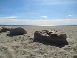 Kalmus Beach boulders
