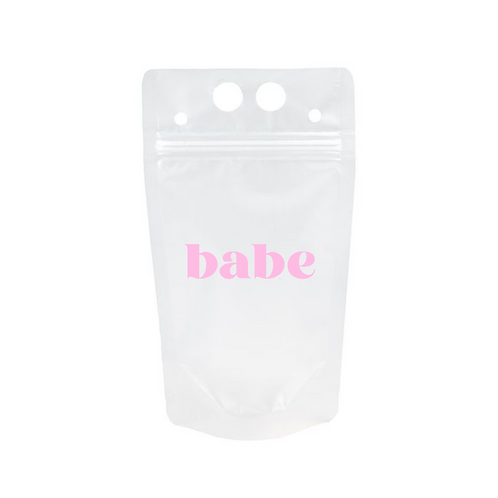 Adult Drink Pouch: BABE