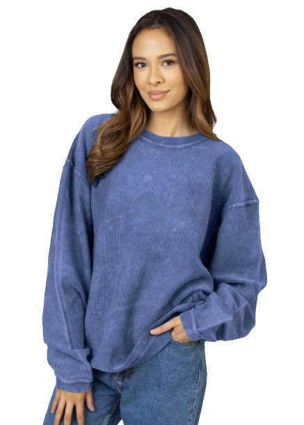 Royal Blue Corded Pullover