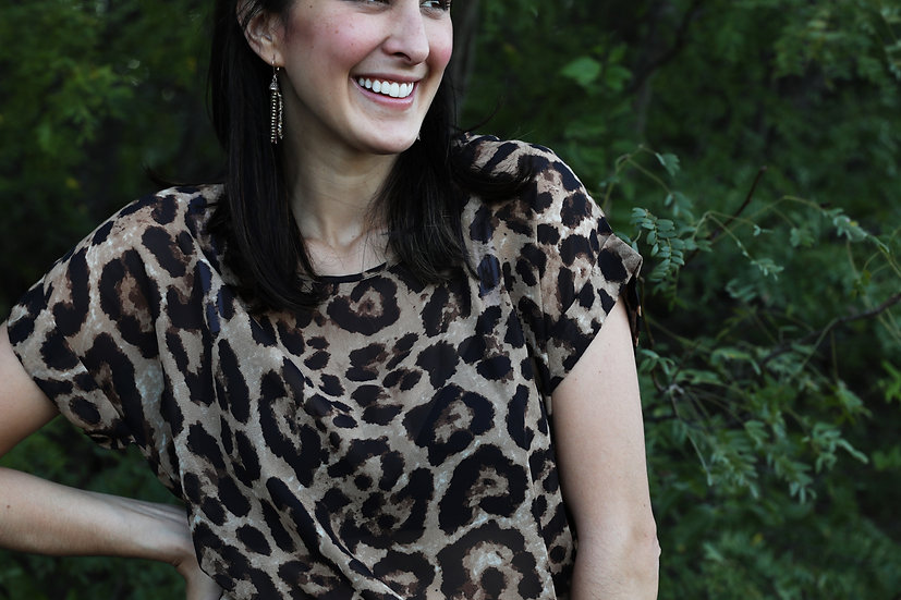 The Lina Leopard Top