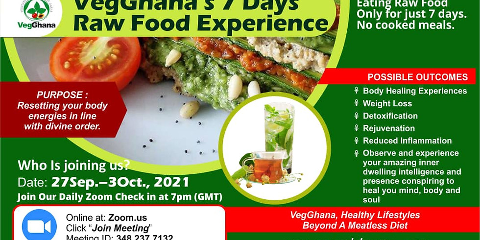 7 Days Raw Food Experience