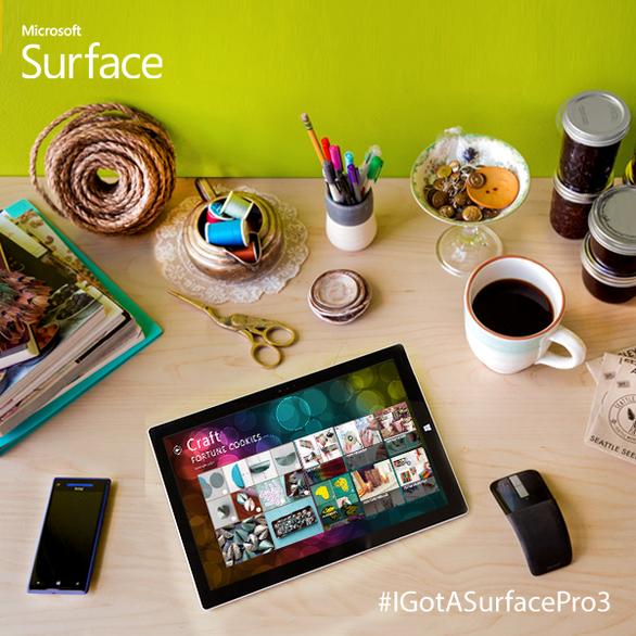 Yarn? Check. Hot Glue? Check. Surface Pro 3? Check. http://surfac.ms/2cTmun