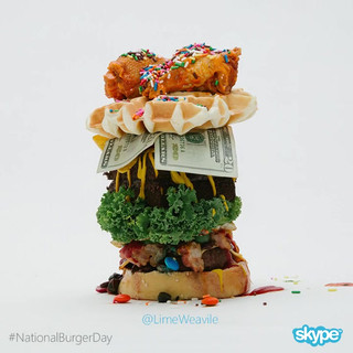 Here it is, the burger we built together for #NationalBurgerDay . You guys are the best!