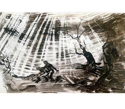 Caché, encre de Chine/p.6, 29x45,5cm