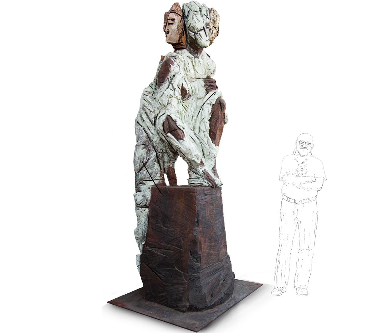L'Homme de Théâtre, 290x115x115 cm