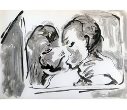 Caché, encre de Chine/p.2, 29x45,5cm