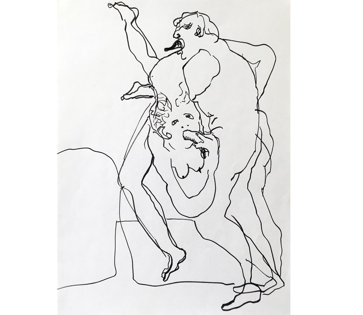 Amour 3, mine de plomb/p., 56x44cm