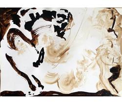 brou de noix/Canson 1, 64x45 cm