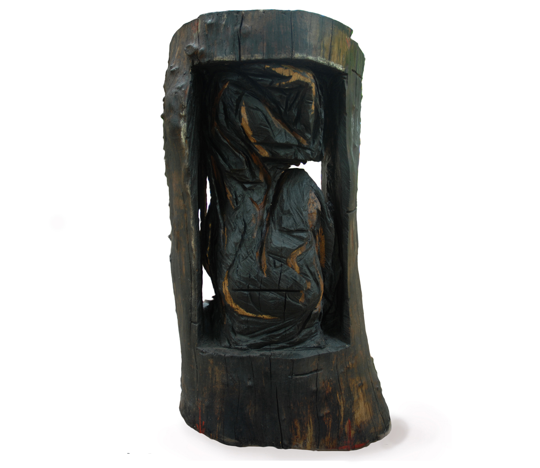 Femme en noir, 220x90x86 cm