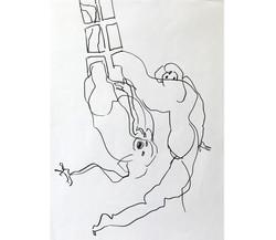 Amour 5, mine de plomb/p., 56x44cm