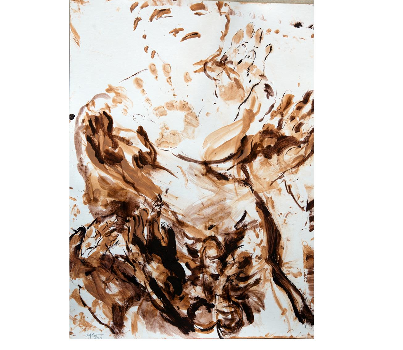 Terra on paper 4, 50x70 cm