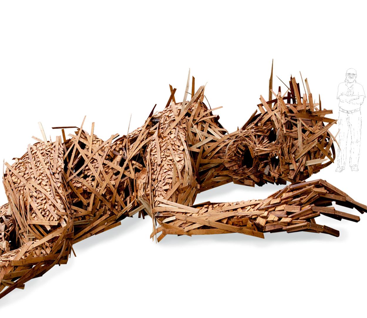 Human Body (détail),1200x600x400 cm