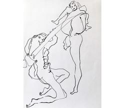 Amour 10, mine de plomb/p., 56x44cm
