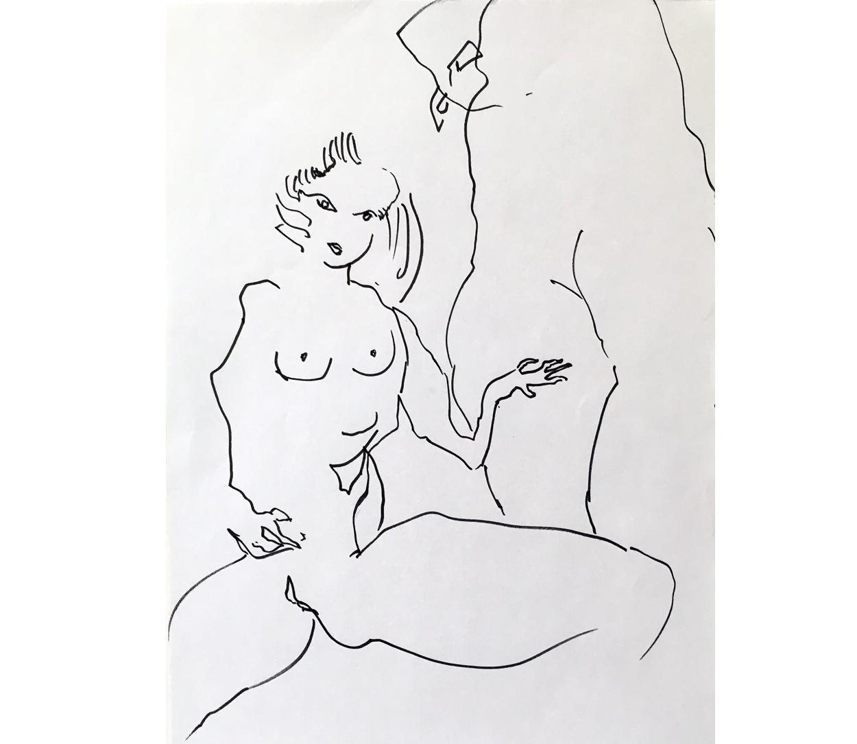 Amour 7, mine de plomb/p., 56x44cm