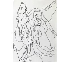Amour 1, mine de plomb/p., 56x44cm