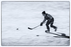 Chasing the puck
