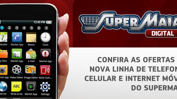 Campanha de lançamento linha celulares - Supermaia Digital