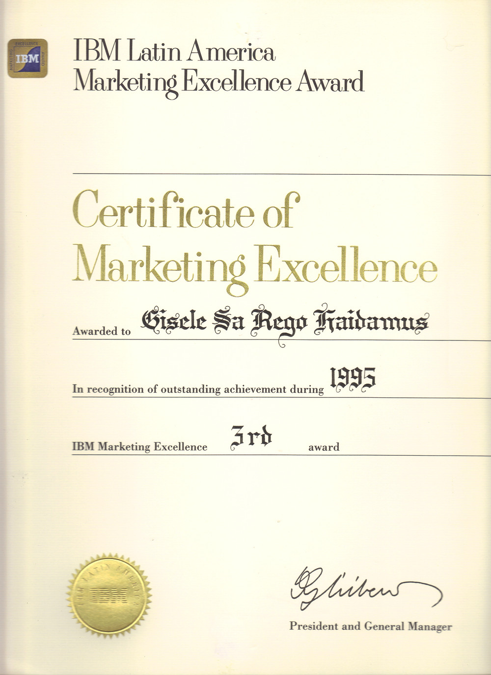 Marketing Excellence Certificate