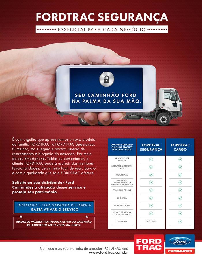 Campanha lançamento Fordtrac Segurança