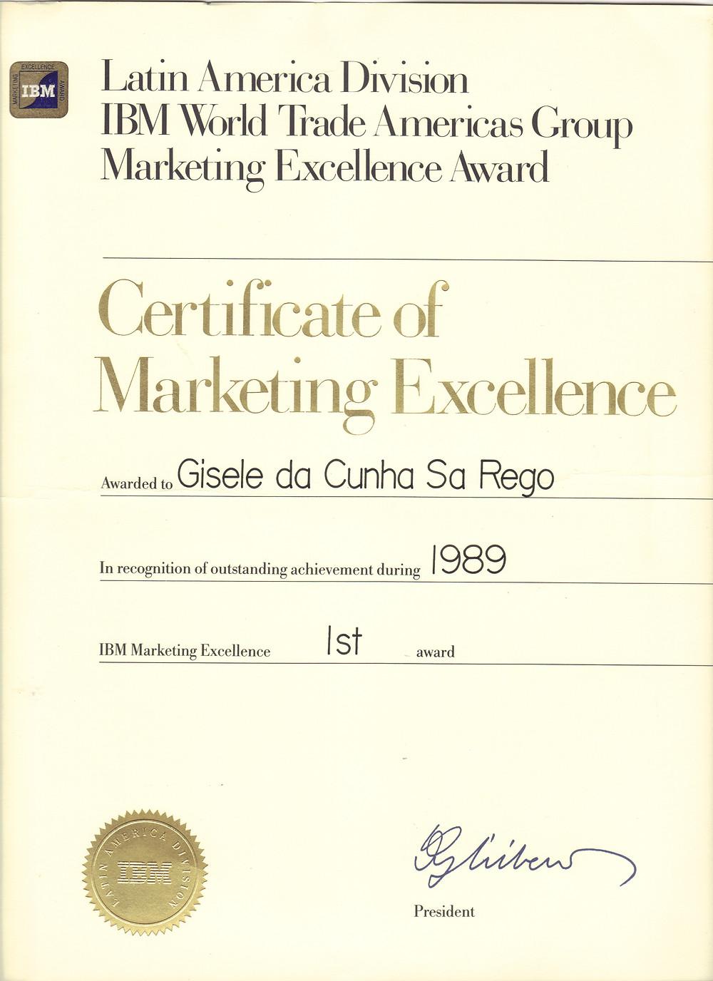 IBM Excellence Award